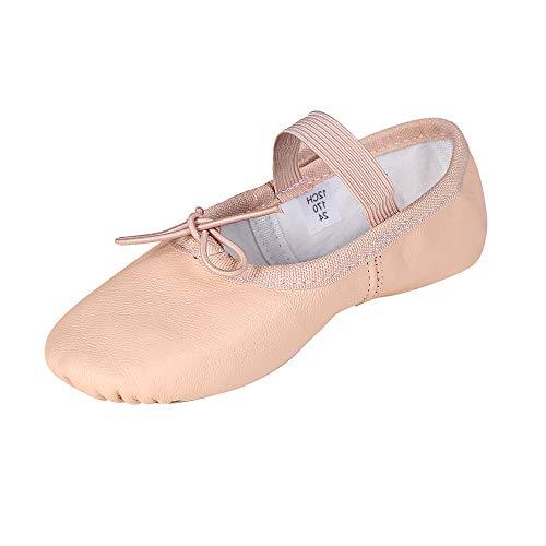 STELLE Premium Leather Ballet Slipper/Ballet Shoes(Toddler/Little Kid/Big Kid) (9MT, Ballet Pink)