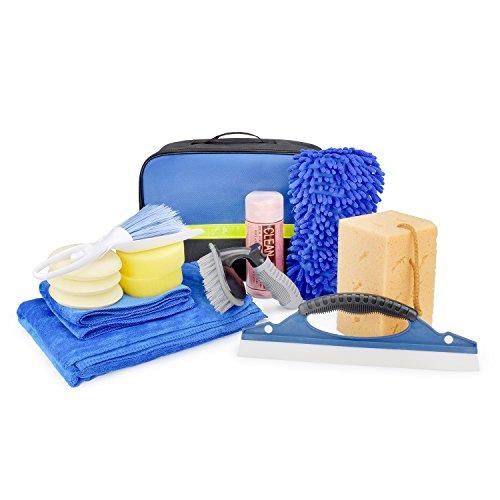 HOTPDR Car Cleaning Kit 14 PCS with Microfiber Towels Auto Wheel Brush Microfiber Sponge Etc