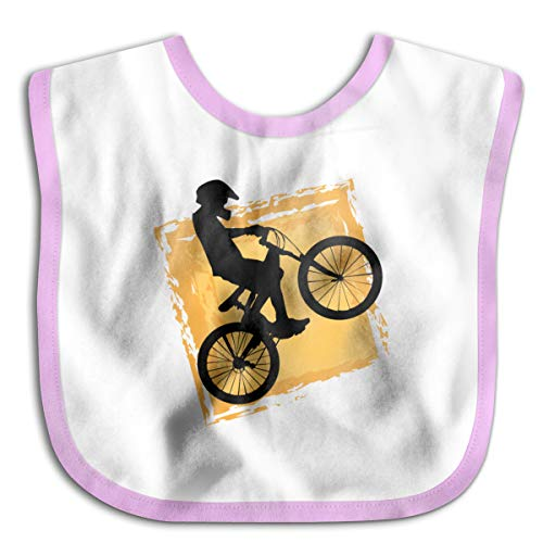 Oii Solid Color Bicycle Rider Speed Baby Bib, Waterproof, Washable For Boys & Girls, Baby Bandana Drool Bibs ()