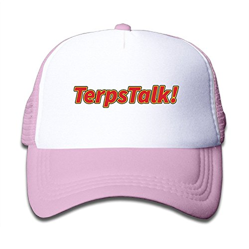 WH&SY Terp Classic Talk Logo Children Mesh Trucker Cap Adjustable Fashion Kids Mesh Snapback Hat Fitted Hats Pink ()
