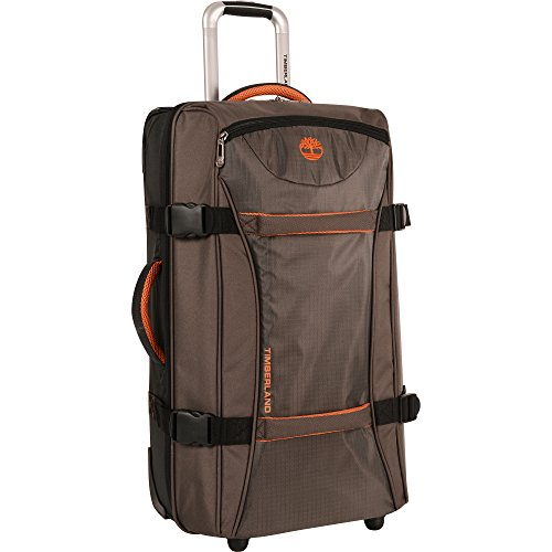 Timberland Wheeled Duffle Bag - Carry On 22 Inch Lightweight Rolling Luggage Overnight Travel Bag Suitcase for Men, Cocoa ()