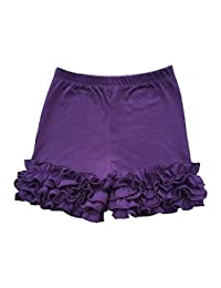 FidgetFidget Shorts Kids Baby Girls Toddler's Solid Layered Double Icing Ruffle Bottoms Pants