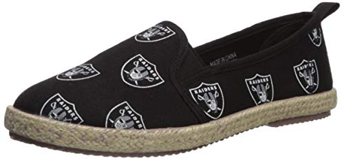 Oakland Raiders Espadrille Canvas Shoe - Womens Medium for sale  Delivered anywhere in USA