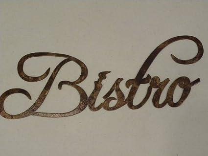 Amazon.com: Bistro Word Antique Copper Color Kitchen/Home Decor ...