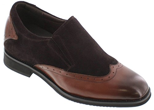 Toto X33513-3 inches Taller - height Increasing Elevator Shoes - Dark Brown Dress Shoes