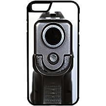 "Semi Automatic Pistol Barrel iPhone 6/6s Plus 5.5"" Hybrid Rubber Protective Case Black"