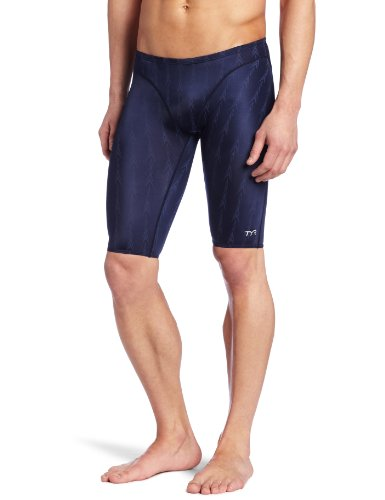 TYR Men's Fusion 2 Jammer Swim Suit (Navy, 30 -Inch) by TYR