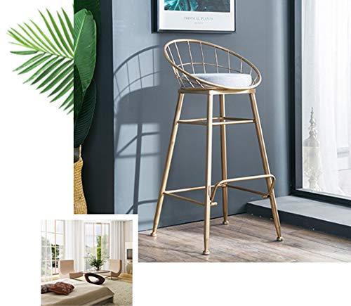 AO-stools Bar Chair Golden Home High Stool Bar Chair Size:95x75x48cm by AO (Image #2)