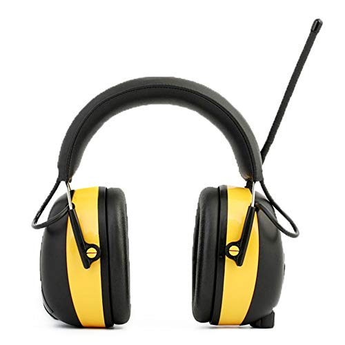 Ear Defenders Noise Reduction Soundproof Prevention Ear Muffs, Shooters Hearing Protection Ear Muffs, Adjustable Headset, Noise Cancelling Headphones , Ear Defenders Fits Adults to Kids Blue Yellow He by Xiuzhifuxie (Image #4)