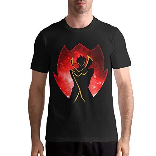 TANISHABUNKLEY Man Comfort Code Geass Short Sleeve Tee Shirt L Black (Code Geass Contacts)