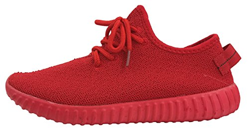 The Collection Jill Womens Athletic Shoes Casual Breathable Sneakers, Red, 9