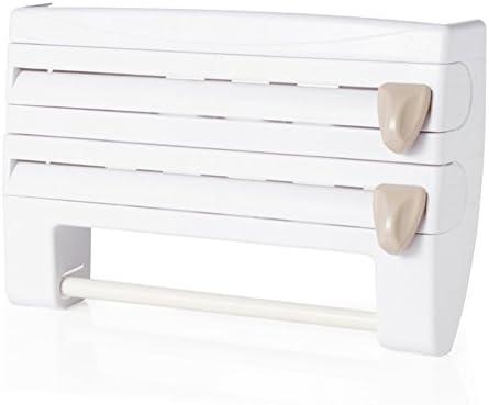 U-A Kitchen Roll Holder imanes Laterales de la Parrilla de Papel Toalla de Cocina en Rack Rack Caja de Papel del Rollo Estante Envoltorio de pl/ástico de Almacenamiento