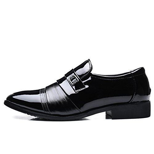 de Hombre Bloque de Oxford para Zapatos para Negro 44 Fang Zapatos Negocios tamaño Hombre de Negro Hombres de EU tacón Zapatos Ocio shoes Color 2018 zwvqtxZF