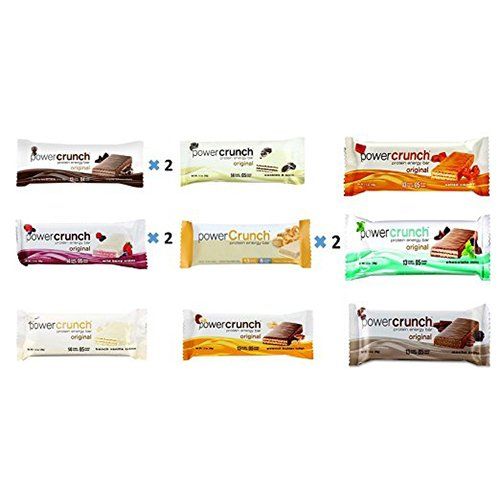 (Power Crunch Protein Energy Bar Variety All 9 Flavors 12 Pack (Pack of 12))