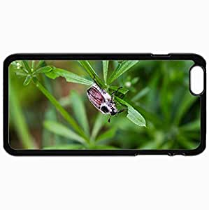 Customized Cellphone Case Back Cover For iPhone 6 Plus, Protective Hardshell Case Personalized Beetle Black