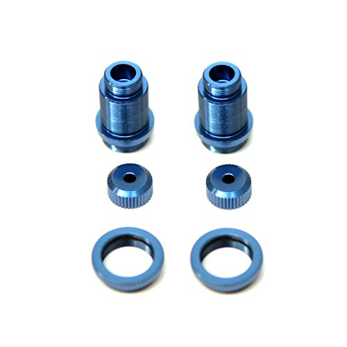ST Racing Concepts ST3764XB CNC Aluminum Threaded Shock Bodies with Collars (Pair), for Traxxas 4Tec 2.0, Blue