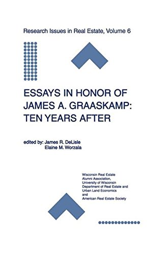 Essays in Honor of James A. Graaskamp: Ten Years After (Research Issues in Real Estate)