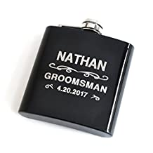 Custom Flask, Stainless Steel Flask, Groomsman Gift Best Man Gift