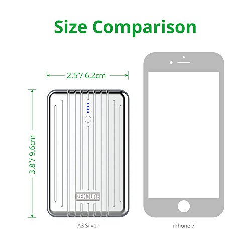 Zendure A3 easily transportable Charger 10000mAh really Durable 10000mAh External Battery power Bank along with 2 USB Ports for iPhone iPad Android and additional PC Advisor Winner 2014 2017 Silver External Battery Packs
