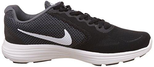 Nike Revolution 3 Zapatillas de running, Hombre Gris (Dark Grey / White / Black)