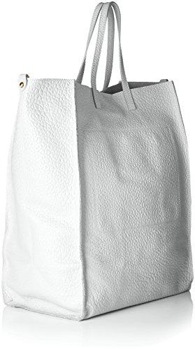 Chicca Borse 8622, Borsa a Spalla Donna, 46x34x16 cm (W x H x L) Bianco