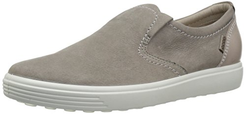 ECCO Women's Women's Soft 7 Slip Fashion Sneaker, Warm Grey Woven, 39 EU/8-8.5 M US