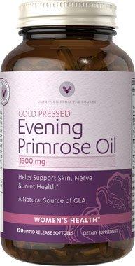 Vitamin World Evening Primrose Oil 1300 mg 120 Capsules