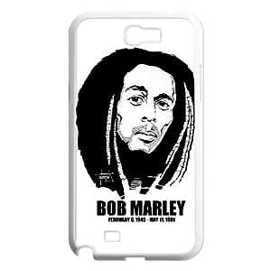 Samsung Galaxy N2 7100 Cell Phone Case White Bob Marley fjr