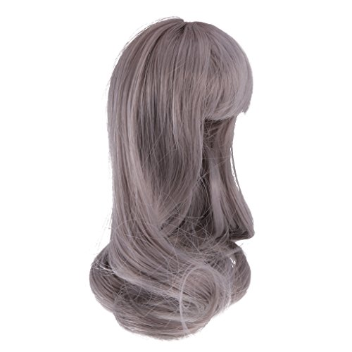 Jili Online 1/6 Curly Long Wig Gray Hair for BJD LUTS CUITE BF POCKET Making & Repair