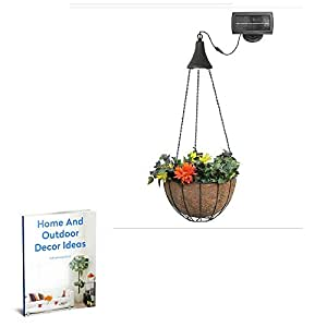 Solar Light Hanging Kit,Outdoor Garden Patio Light Flowers Coconut Fabric Metal Framed Pot Shed Lamp Sun Powerd Set & E book by Easy2Find.
