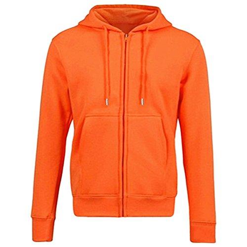 Samtree Women's Drawtring Hoodie Zip Up Sweatshirt Sport Fleece Jacket(XL(14-16),Orange)