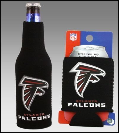 SET OF 2 ATLANTA FALCONS CAN & BOTTLE KOOZIE COOLER Review