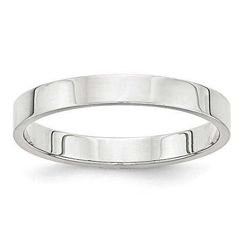 925 Sterling Silver 3mm Flat Size 7 Wedding Ring Band Classic Fine Jewelry Gifts For Women For Her
