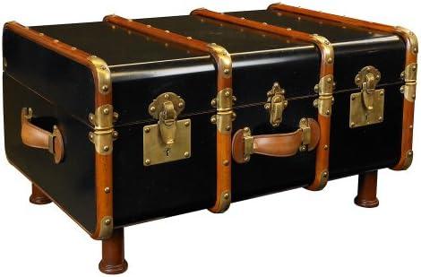 Mesa de centro en forma de baúl antiguo, color negro.: Amazon.es ...
