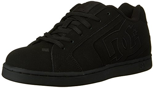 DC Men's Net Lace-Up Shoe, Black/Black/Black, 11 D M (Dc Shoes Boots)