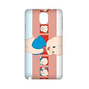 Cartton Cute Pig White Phone Case for SAMSUNG NOTE3 3D