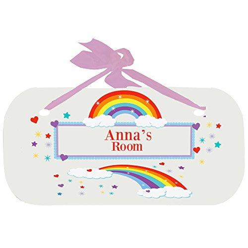 Personalized Rainbow Door Hanger Plaque