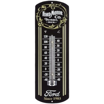 (Ford Motor Company Detroit Michigan Thermometer with Ford Logo Classic)