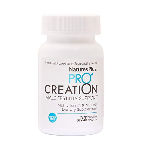 Natures Plus Procreation Men - 60 Vegetarian Capsules - Natural Male Fertility Support, Multivitamin & Mineral Supplement with Amino Acids, Herbal Blend - Gluten Free - 30 Servings