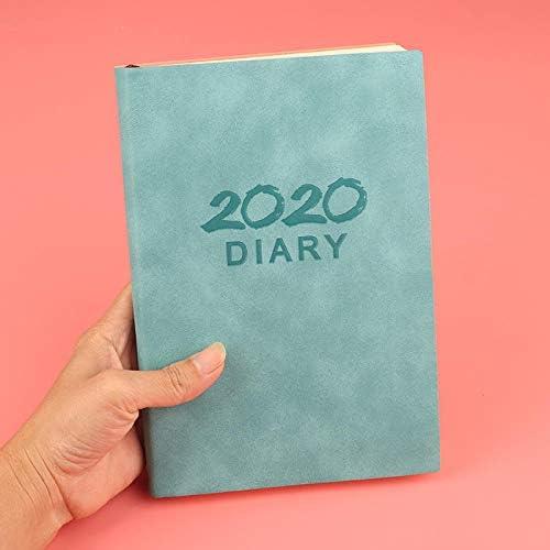 2020 Tagebücher 2020 Handbuch Zeitplan Notizbuch 365 Tage Tagebuch-Hellblau2020 Zeitplan
