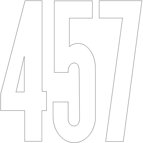 Duro Vinyl Letters, Numbers & Misc. Signs, Gothic, No. 3219, 6 inch White