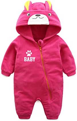 Baby Boys Girls Jumpsuit Hoodie Romper Outfit Bear Cartoon Bodysuit Clothes