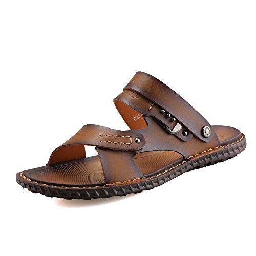 Primavera ed estate Nuovi modelli sandali Scarpe da spiaggia Suture manualmente Scarpe da ginnastica nuovissime giovani di tendenza, Brown, UK = 8, EU = 42