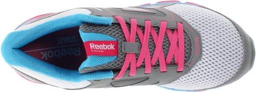 Reebok Kvinners Doble Turbo Brann Løpesko Hvit / Flat Grå / Optimal Rosa / Blå Blink