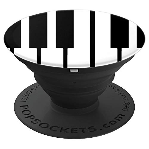 Piano Key Keyboard Music Musician Pianist - PopSockets Grip and Stand for Phones and Tablets