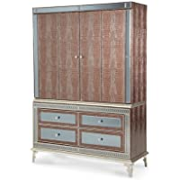 AICO Hollywood Swank Amazing Gator Media Cabinet Entertainment Armoire