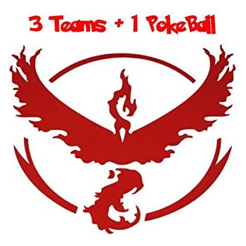 Pokemon stickers decals for laptop for bumper 3 teams die cut transfer stickers