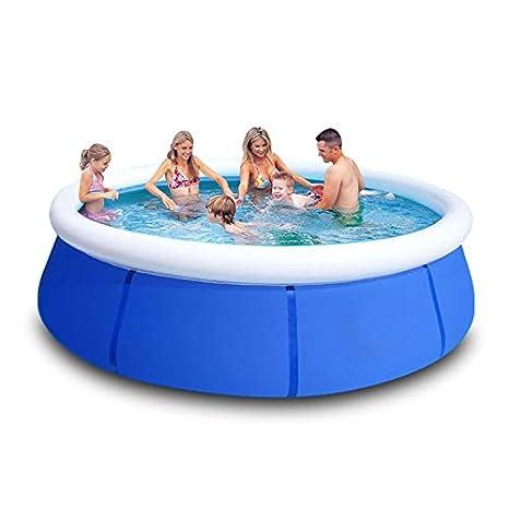 El Pro le espesan Super gran piscina cuadrado soporte familia ...