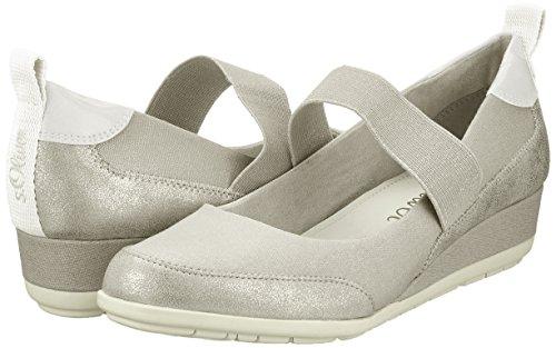 Comb Mujer oliver S Tacón De 24620 Plateado Zapatos Para silver znTnZW