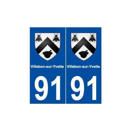 91 Villebon-sur-Yvette blason autocollant plaque stickers ville - droits